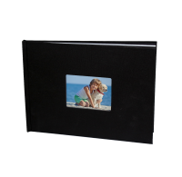 WINDOW HARD COVER LINEN PHOTO BOOK - 20x28cm