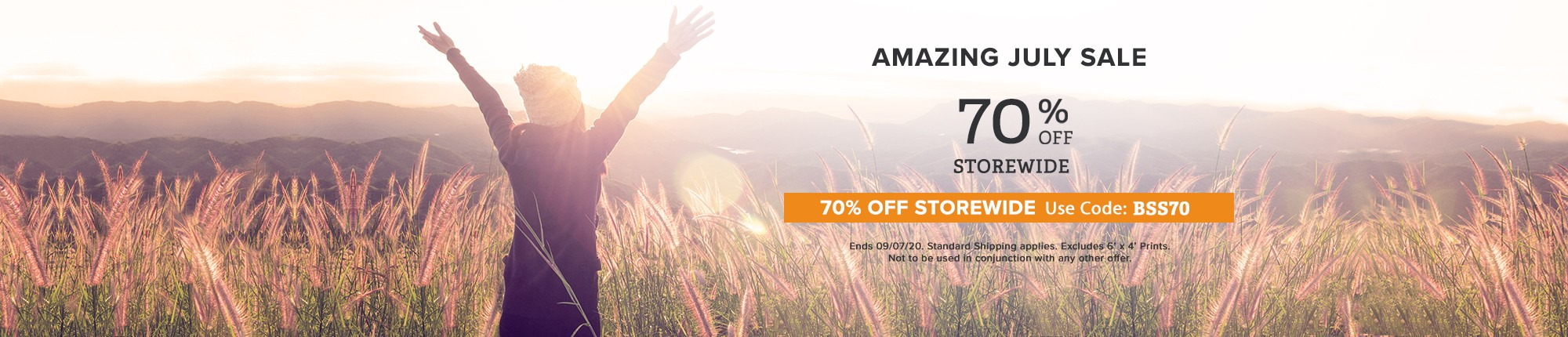 Amazing July Sale 70% off