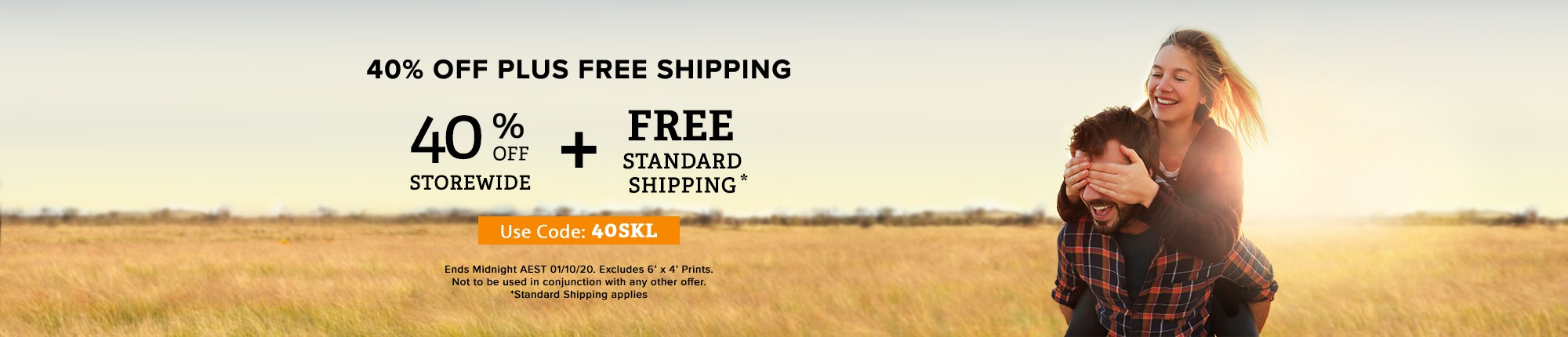 40% Off Plus Free Shipping